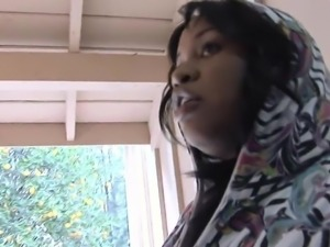 Thick Black Chick Makes Her Neighbor Cum