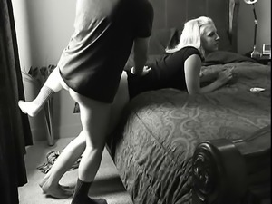Delightful blonde enjoys every thrust of dick in her twat d