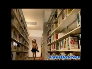 Webcam show in public school library