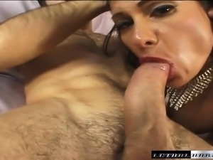 Stacked cougar in heat Sheila has a hung stud roughly banging her ass