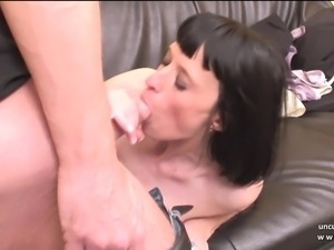 Big boobed french milf in lingerie hard analyzed