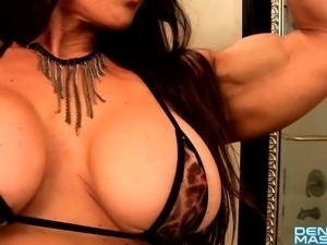 Denise Masino - Pampered Feline love - Female Bodybuilder