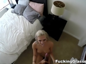 Fucking Glasses - Escort fuck with spycam twist
