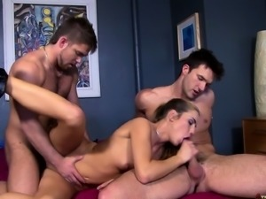 Horny couple indulging in a torrid bisexual threesome with the doctor