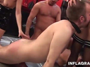 Funny German amateur swingers playing games