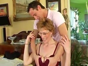Man & Granny in living room