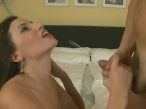 Shocked and surprised by massive cumshot