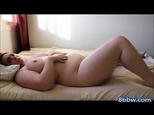 BBW Girl Touches to Orgasm
