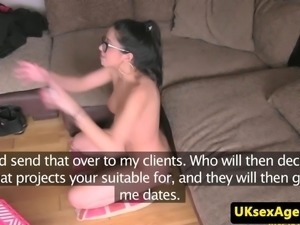 Spex spain casting babe deepthroating cock