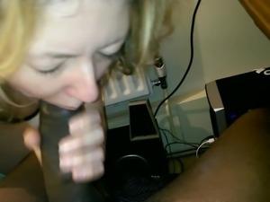 She sucks my black dick