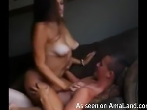 Real homemade girl asking to get it harder!