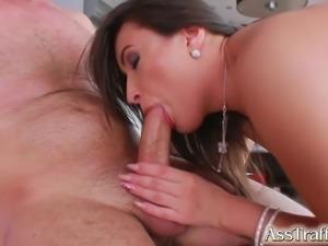 AssTraffic Big butt ass fucking and cumshot swallowing