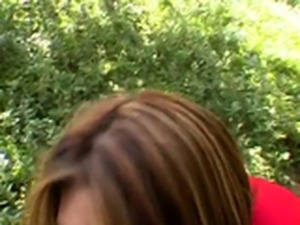 Cheerleader sophia castello banged in the woods