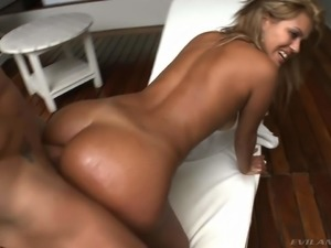 Smoking hot sexy Talita Brandao gets her round ass fucked