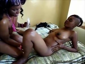 Slutty black lesbians in action