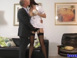 British milf in stockings getting fingered