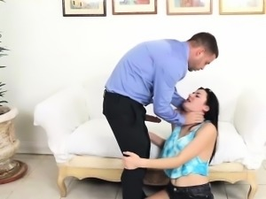 Sweet hot babe Kimberlee Anne getting her pussy banged