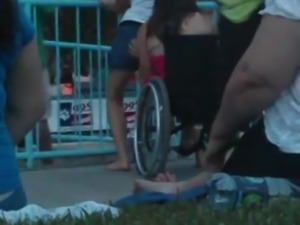 Lesbian wheelchair lap dance