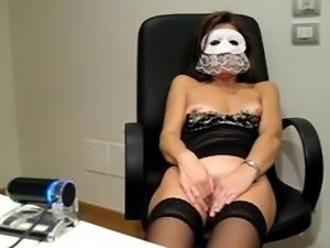 Mature orgasm masked