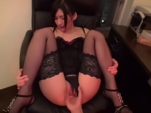 POV doggystyle sex with an Asian hottie in a swimsuit
