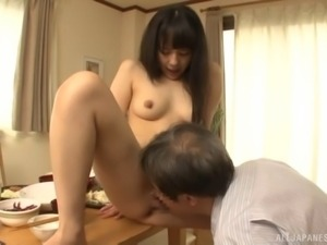 Magnificent Japanese model takes the experienced cock into pussy