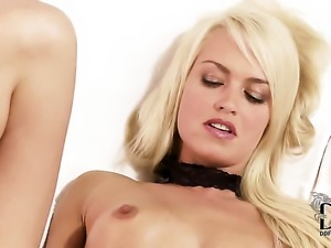 Breathtakingly sexy porn diva with small tities and hairless muff does...