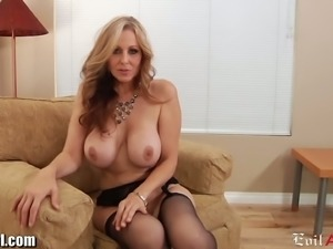 Big breasted MILF crawls to a dick like an insatiable beast