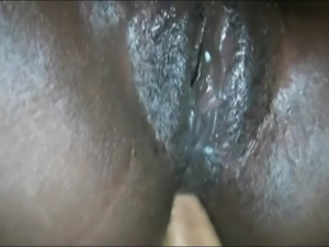 Ebony sauna anal