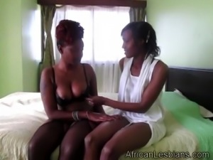 Black whores sharing dildo