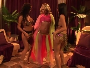 Belly dancing ladies hook up in a hardcore foursome