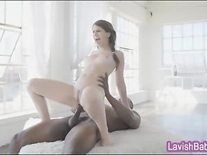 Pretty brunette babe Joseline Kelly fucked by big black cock