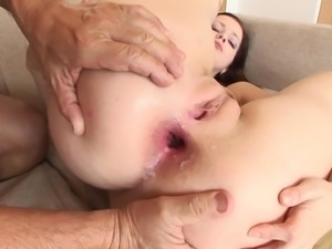 Foxy cowgirl with a nice ass getting hammered in a old vs young shoot