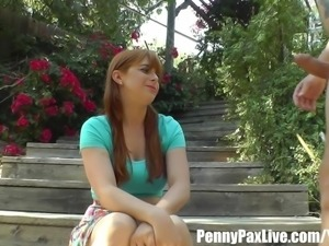 Penny Pax Gets Fucked In The Ass & Creampied In Her Backyard!