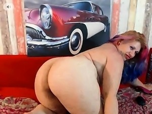 Lustful amateur plumper shows off her hot curves and her ti