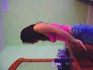Excellent breasts on cam with this hottie dance