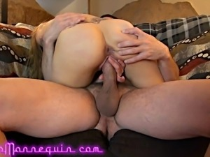 Horny Tiny MILF Lets Cuckold Husband Film Her Fucking