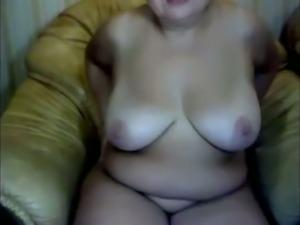 Russian super fat nerdy mature slut was lazily teasing her own slit
