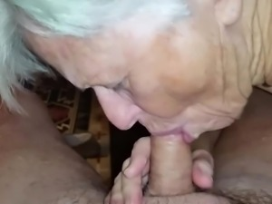 granny did not forget how to suck cock