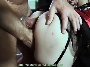 Amateur mature granny anal gangbang