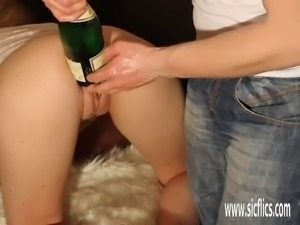 Hot amateur milf double fist fucked in her cavernous gaping hole by her...
