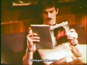 Man gets smokes weed and fucks (1970s Vintage)