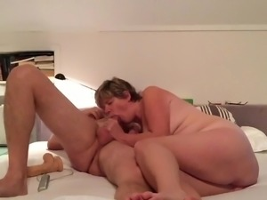 Wife fucks hubby's friend