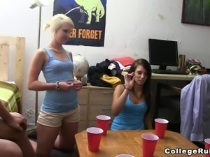 Amazing Coeds Sucks Big Dicks And Get Fucked After A Party