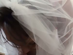 Horny groom fucks delicious raven haired bride Stacey Hopkins in various poses