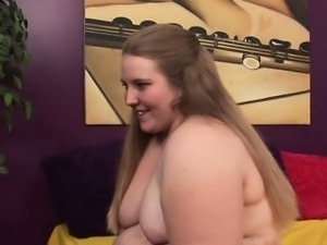 Voluptuous Jessie sucks on a hard dick and spreads her legs to get her juicy...