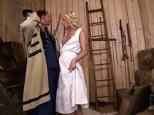 With small boobs and clean muff loves the way man drills her mouth