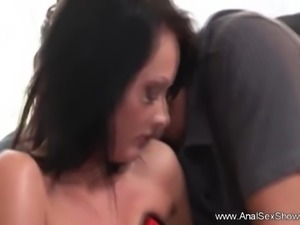 Ass fuck For Excited MILF Housewife