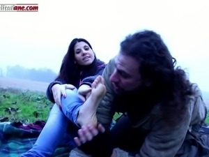 The voyeur ep1 barefoot licking outdoor 3