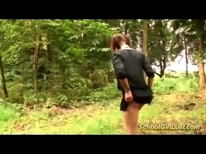 busty french schoolgirls needs extreme deep anal sex in nature