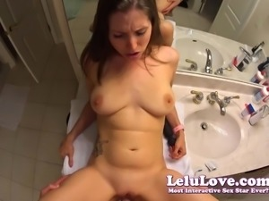 Lelu Love-POV Vibrator Hardcore Fucking On Counter